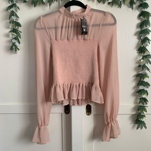 FOREVER 21 *NWT* Blush Pink Romantic Blouse (M)